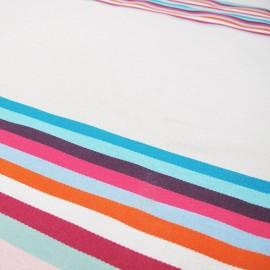 Tissu toile Feria rayure basque Belle Ile x 10cm