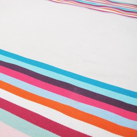 Canvas Fabric - Feria rayure basque Belle Ile x 10cm