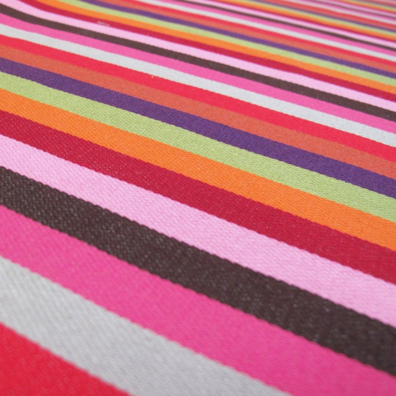 tissu toile luz rayure basque multicolore x 10cm ma petite mercerie. Black Bedroom Furniture Sets. Home Design Ideas