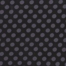 Tissu Ta Dot Black x 10cm