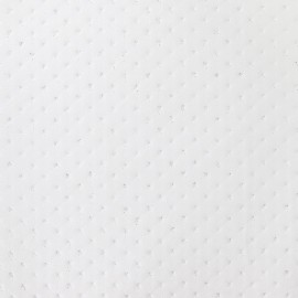 Simili cuir strass blanc x 10cm
