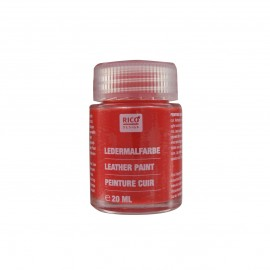 Leather paint 20 ml - shiny red