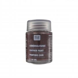 Leather paint 20 ml - dark brown