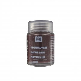 Peinture cuir brun foncé 20 ml