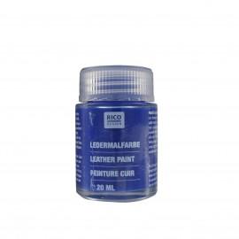 Peinture cuir bleu 20 ml