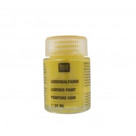 Peinture cuir jaune 20 ml