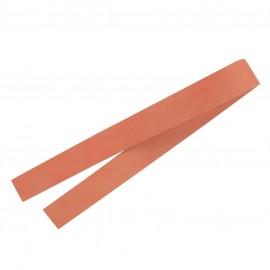 ♥ Leather strip bag-handles, Illium - orange ♥