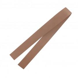 Leather strip bag-handles, Make-up - beige