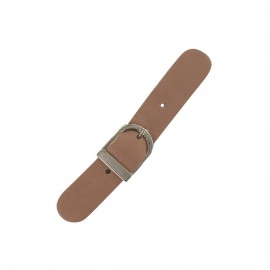 Leather strap with buckle, Make-up - brown