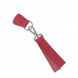 Leather strap with snap hook and D-buckle-strap Bubble - fuchsia