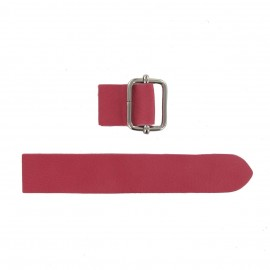 Leather strap with sliding bar adjuster buckle Bubble - fuchsia
