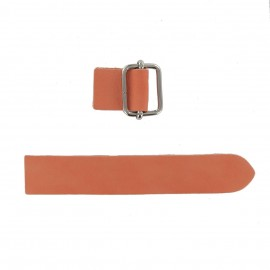 Leather strap with sliding bar adjuster buckle Illium - orange