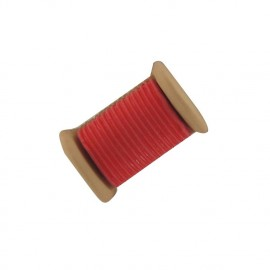 Sewing Button, bobbin - red