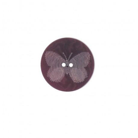 Bouton polyester Butterfly violet
