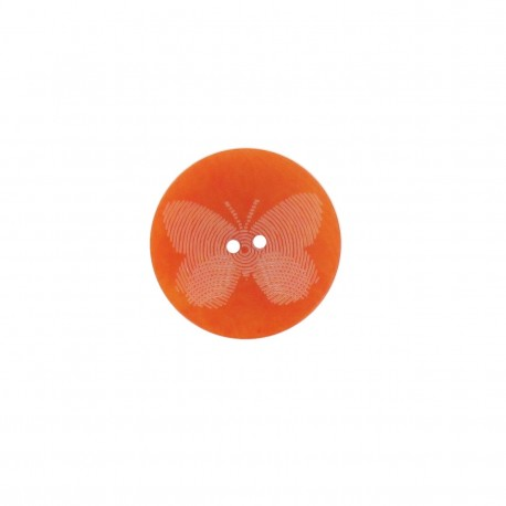 Bouton polyester Butterfly orange