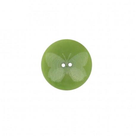 Bouton polyester Butterfly vert