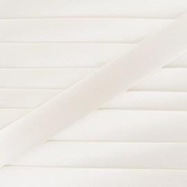 Satin bias binding, 20mm - ecru