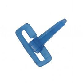 Mousqueton plastique bleu