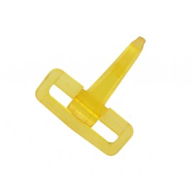 Mousqueton plastique transparent jaune