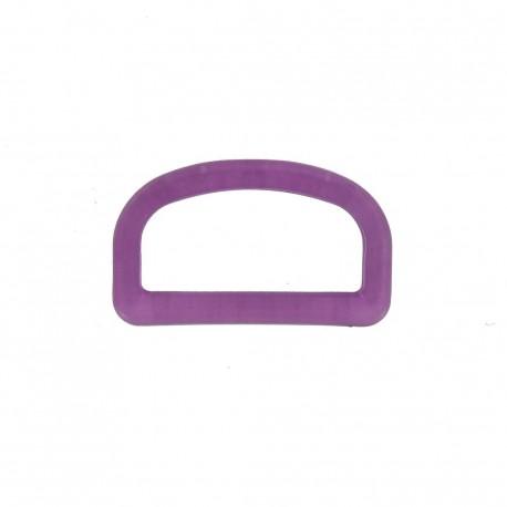 Anneau en D plastique transparent violet
