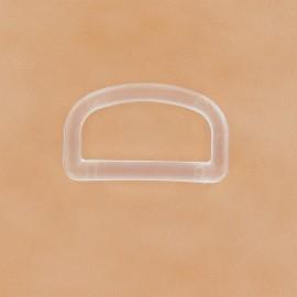 Anneau en D plastique transparent