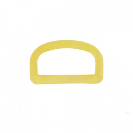 Anneau en D plastique transparent jaune