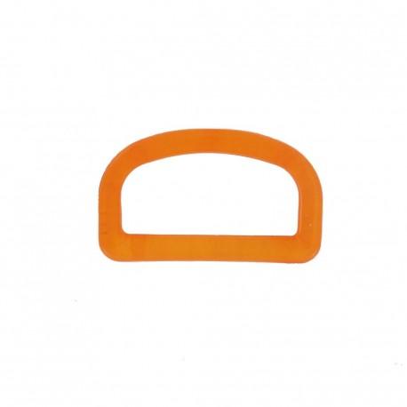 Anneau en D plastique transparent orange