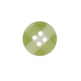 Button, rounded-shaped, checkered - green