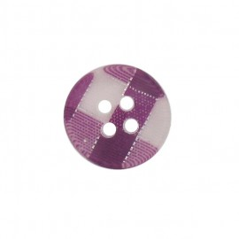 Button, rounded-shaped, checkered - purple
