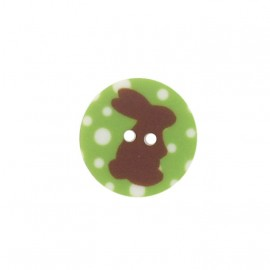 Button, rounded-shaped, Rabbit - green