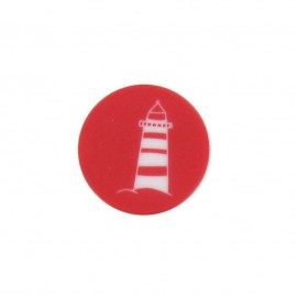 Bouton marin Phare rouge