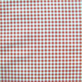 Oilcloth Fabric - petit vichy red x 10cm