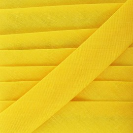 Multi-purpose-fabric Bias binding 20mm, plain - yellow