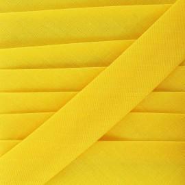 Ruban biais uni jaune