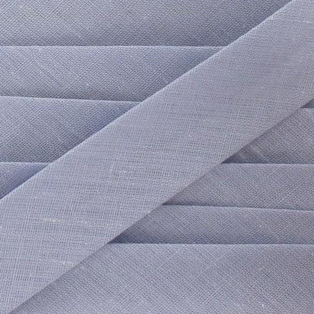 Biais Tout Textile gris clair 20 mm