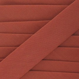 Multi-purpose-fabric bias binding, 20mm - rust
