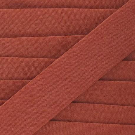 Multi-purpose-fabric bias binding, 20mm - rust