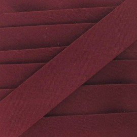Multi-purpose-fabric bias binding, 20mm - burgundy