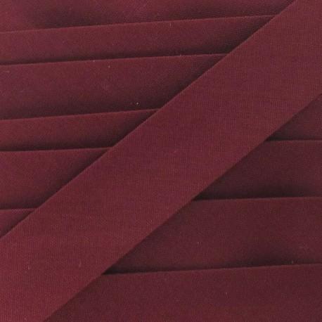 Multi-purpose-fabric bias binding, 20mm - burgundy
