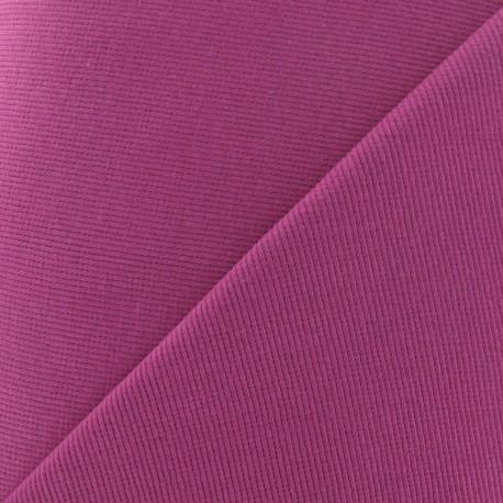 Knitted Jersey 1/2 tubular edging fabric x 10 cm - raspberry