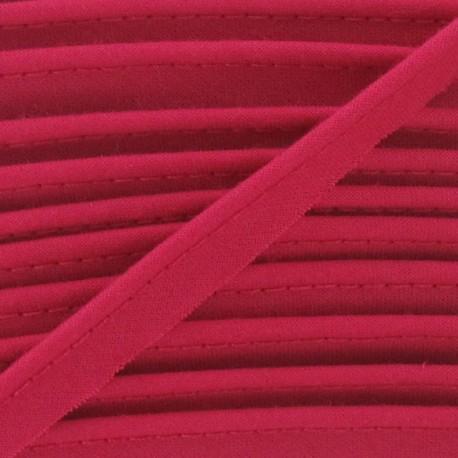 Passepoil tout textile framboise