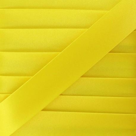 Satin bias binding, 20mm - yellow