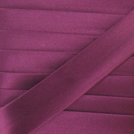 Satin bias binding, 20mm - plum