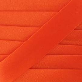 Satin bias binding, 20mm - carrot orange
