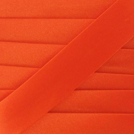 Satin bias binding, 20mm - carrot orange