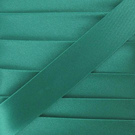 Satin bias binding, 20mm - green