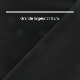 Tissu coton uni noir grande largeur (240 cm) x 10cm