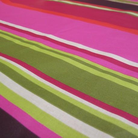 Tissu enduit coton Sebastian prune x 10cm