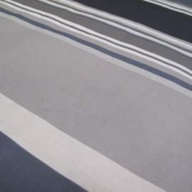 Tissu enduit coton Sebastian gris x 10cm