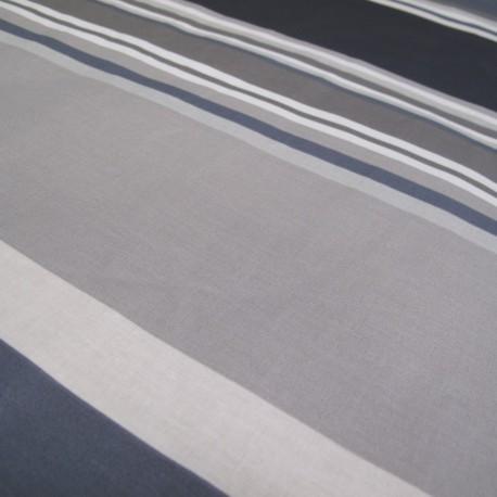 Sebastian Coated Cotton Fabric - grey x 10cm